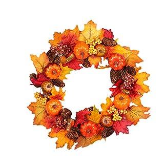 gaeruite-Weihnachten-Knstliche-Herbst-Krbis-Kranz-fr-Dekoration-Halloween-Weihnachtsbaum-Hngen-Dekor-Nicht-Licht