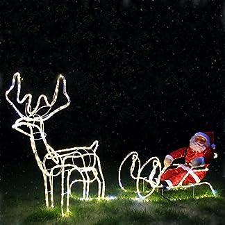 Weihnachtsdeko-Figuren-432-LED-Weihnachtsmann-mit-Rentier-Schlitten-Weihnachtsbeleuchtung-fr-Innen-und-Auen-Weihnachtsdekoration-Weihnachtsschlitten-Lichterschlauchfigur