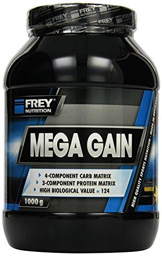 Frey Nutrition Mega Gain Vanille Dose, 1er Pack (1 x 1 kg)