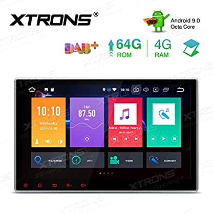 XTRONS-101-Radio-4GB-RAM-64GB-ROM-Octa-Core-Double-DIN-Android-90-Autoradio-mit-Touchscreen-Auto-DVD-Player-8-Core-Autostereo-2DIN-CAR-Auto-Play-4G-Bluetooth-DAB-OBD2-TPMS-UNIVERSAL
