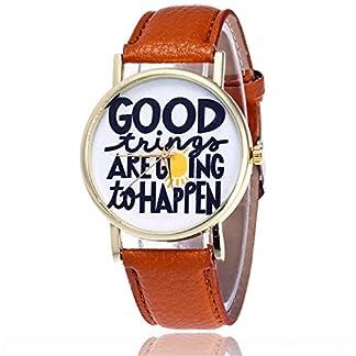 rainbabe-braun-Damen-Herren-artificiel-Leder-Band-Strap-Armbanduhr