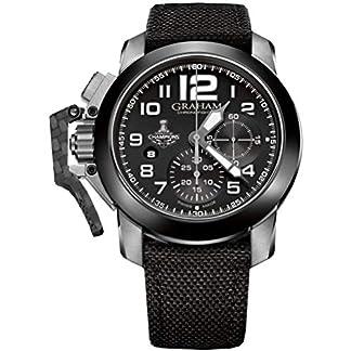 Graham-Herren-Armbanduhr-47mm-Armband-Textil-Schwarz-Automatik-2CCACB08AT12