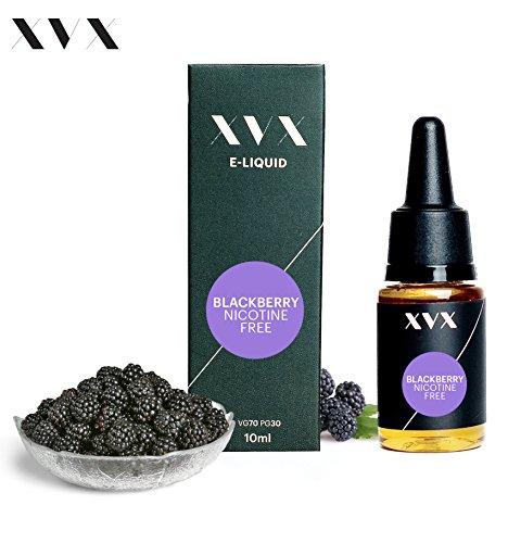 XVX E-Liquid  Brombeere Geschmack  Elektronisches Liquid Für E-Zigarette  Elektronische Shisha Liquid  10ml Flasche  Nadelspitze  Präzise Befllung  Wähle Deinen Lifestyle  Neu Für 2016  Digitaler Rauch  Nikotinfrei  Tabakfrei
