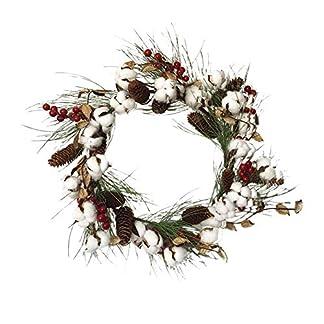 Knstlicher-Kranz-Deko-Baumwolle-Trkranz-Artplants-Weihnachten-fr-Wand-Tr-und-Tisch