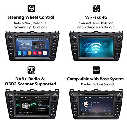 eonon-GA9398-fit-Mazda-6-2009-2010-2011-2012-Android-9-2G-RAM-32G-ROM-Quad-Core-203-cm-HD-Touchscreen-Audio-Video-Stereo-DVD-GPS-kompatibel-mit-Bose-System-Support-Bluetooth-4G-Dongle-WiFi