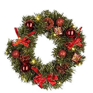 Idena-30138-Weihnachtskranz-mit-10-LED-warm-wei-mit-6-Stunden-Timer-Funktion-Batterie-betrieben-fr-Deko-Weihnachten-Advent-als-Stimmungslicht-Trkranz-ca-30-cm