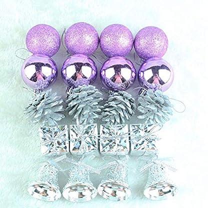 Xuanyang-20-TeilePaket-Weihnachten-Lila-Ball-Anhnger-Weihnachtsbaum-Anhnger-Ornamente-Kleine-Kugel-Weihnachten-Urlaub-Dekoration