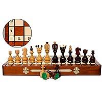 Master-of-Chess-Schicke-ROYAL-50cm-20in-Holz-Schachspiel-Schachfiguren-handgefertigt-aus-sen-Kirschbaum