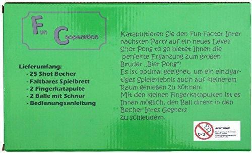 Fun-Cooperation-Shot-Pong-Das-Beste-Trinkspiel-fr-Jeden-Anlass-Inkl-2-Fingerkatapulten-25-Shotbecher-Die-Perfekte-Geschenkidee-der-Mini-Beer-Pong-Tisch-fr-Jede-Party-Vodka-Pong-Gin-Pong