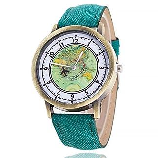 Armbanduhr-Damen-erthome-Karte-muster-Quarz-Uhren-Leder-Band-Runde-Armbanduhr-Armband-fr-Damen-Mdchen–Geschenk-Uhren