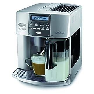 DeLonghi-Magnifica-Elegance-ESAM-3600-Kaffeevollautomat-Digitaldisplay-integriertes-Milchsystem-Cappuccino-auf-Knopfdruck-Herausnehmbare-Brhgruppe-2-Tassen-Funktion-silber