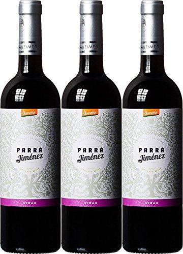 Parra-Jimenez-Syrah-DO-aus-SpanienLa-Mancha-Bio-vegan-2016-3-x-075-l