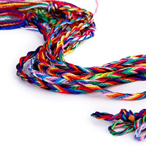 9 Stück Freundschaftsbänder Geflochten Gewebt Gewinde Knöchel Armband Partei bevorzugen Schmuck