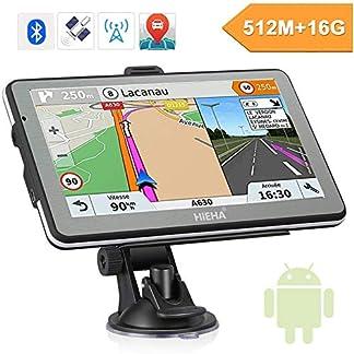 Hieha-7-Zoll-GPS-Navi-Navigation-Navigationssystem-fr-LKW-PKW-16GB-512MB-Bluetooth-Andriod-Navigationsgert-Kostenloses-Kartenupdate-POI-Blitzerwarnung-Sprachfhrung-Fahrspurassistent-2018-EU-Karten