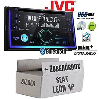 Autoradio-Radio-JVC-KW-DB93BT-2-DIn-DAB-Bluetooth-MP3-USB-Einbauzubehr-Einbauset-fr-Seat-Leon-1P-2DIN-Silber-JUST-SOUND-best-choice-for-caraudio
