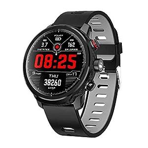 Smart-Watch-Herren-IP68-wasserdichte-Schrittzhleruhren-Standby-100-Tage-Mehrere-Sportarten-Herzfrequenzberwachung-Wettervorhersage-Smart-Watch-Kompatibel-fr-Android-und-Ios