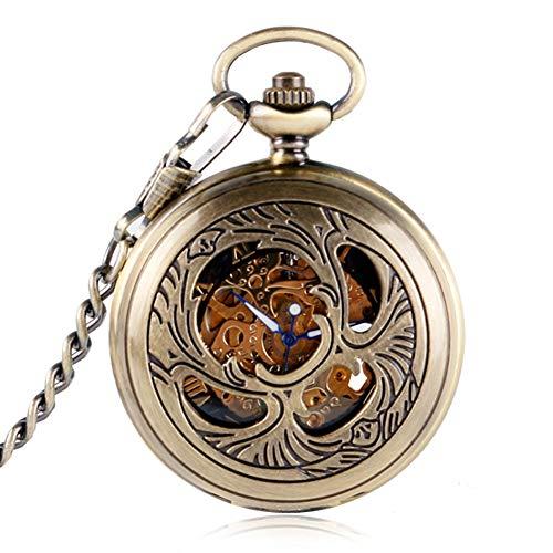 Elegante-Taschenuhr-Skelett-Blume-Taschenuhr-fr-Herren-rmischen-Ziffern-Mechanische-Hand-Aufziehen-Taschenuhr-Geschenk
