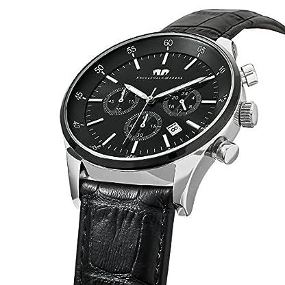 Rhodenwald-Shne-Goodwill-Herrenuhr-Chronograph-Edelstahl-bi-color-schwarz-5-ATM-Przisions-Quarzwerk-Stoppuhr-Totalisatoren-Lederarmband-schwarz-Quarzuhr-Echtleder-Armband-Armbanduhr-analog