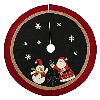 Whiie891203-Weihnachtsdeko-Sankt-Schneemann-Muster-Baum-Schrze-Rock-Carpet-Boden-Matte-Weihnachtsbaum-Decke-Deko-Christbaumstnder-Boden-Home-Hotel-Party-Dekorationen-Ornamente