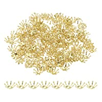 Baoblaze-200er-Set-10mm-Metallperlen-Spacer-Zwischenperlen-Perlenkappen-Charms-Beads-fr-DIY-Schmuck-Basteln