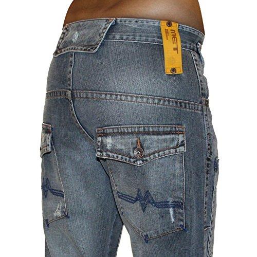 MET Jeans Electrician Gr. 31/32, blau – stonewashed