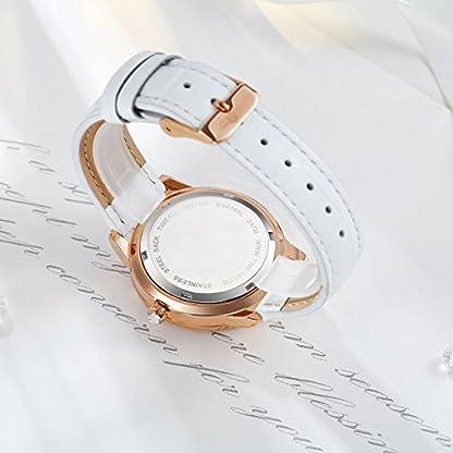 Time100-Armbanduhr-Damenuhr-Quarzuhr-Mdchenuhr-Blumen-Leder