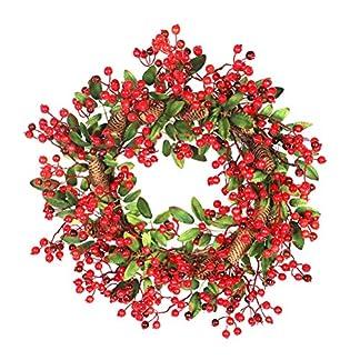 Amosfun-Christmas-Berry-Tannenzapfen-Girlande-Hngenden-Kranz-Dekoration-Ornamente-fr-Weihnachten-Home-Wedding-Store-60-cm