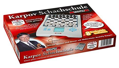 Sprechender-Schach-Computer-Schachschule-mit-Karpov-Schach-Computer-und-Lehrbuch-Empfohlen-vom-Deutschen-Schachbund