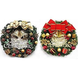 MERRY-CHRISTMAS-Beleuchtet-Kranz-Weihnachten-Deko-Im-Winter-Girlanden-mit-LED-und-Bell-Kranz-Fr-Deko-Tr-Fenster-Weihnachten