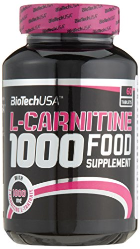 Biotech USA L-Carnitine 1000 mg 60 Tabletten, 1er Pack (1 x 108 g)