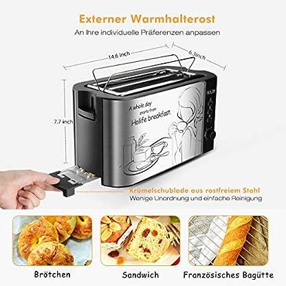Toaster Holife 1500w Automatik Toaster Mit 2 Langen Breiten