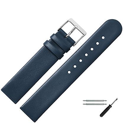 MARBURGER-Uhrenarmband-24mm-Leder-Blau-Werkzeug-Montage-Set-7612450000120
