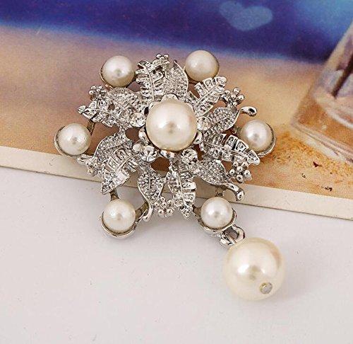 Hosaire Brosche Mode Perle Blütenform Broschen für Hochzeit Schmuck Zubehör Geburtstagsgeschenk