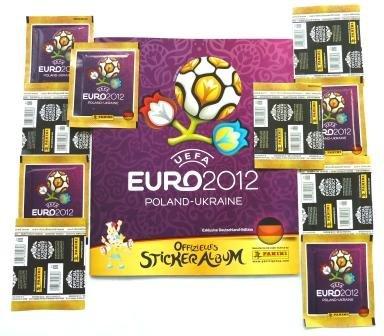 Panini-UEFA-EURO-2012-Poland-Ukraine-Sonder-Pack-10-Sticker-Tten-und-1-Sammel-Album
