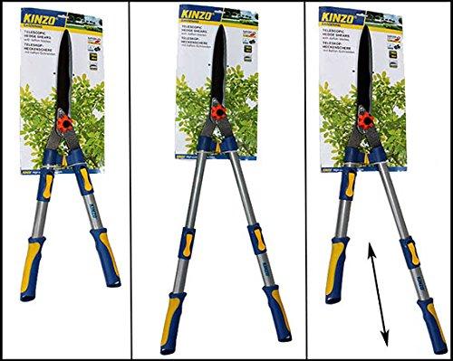Gartenschere-KINZO-Heckenschere-fr-Baum-und-Hecke-max-Schneid–8mm-teleskop-nichtrostend