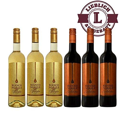 Bianco-3-et-Rosso-3-Noblile-alla-Vaniglia-et-Cioccololata-6x075l-VERSANDKOSTENFREI