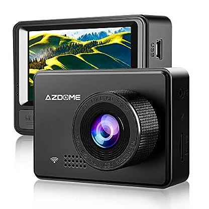 AZDOME-Autokamera-mit-Superkondensator-WiFi-Dashcam-mit-1080P-Auflsung-Dash-Cam-mit-170-Weitwinkelobjektiv-und-Super-Nachtsicht-Dash-Camera-mit-G-Sensor-Loop-Aufnahme-und-BewegungserkennungM08