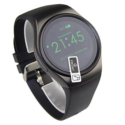 KW18-Bluetooth-taugliche-Smartwatch-mit-Touchscreen-Pulsmesser-und-Musikfunktion-untersttzt-SIM-SD-Karten-kompatibel-mit-iPhone-und-Android-mehrere-Sprachen