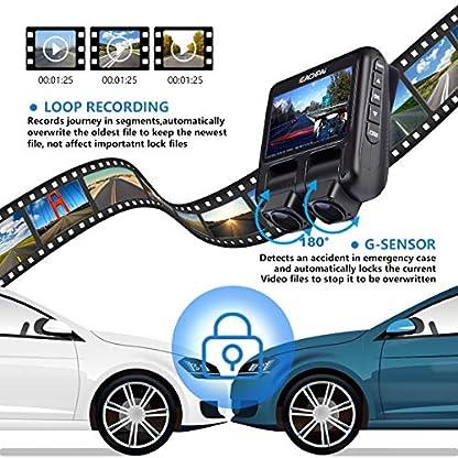 Dual-Dashcam-EACHPAI-X100-Pro-Autokamera-Vorne-Hinten-Infrarot-Nachtsicht-FHD-1080P-mit-Sony-Sensor-Superkondensator-ParkberwachungWeitwinkel-Schleifendatensatz-GPS-32G-CardFahrer-Geschenk