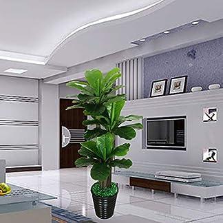TRDT-Knstliche-Baum-Goldener-LotusbaumHochwertige-Materialien-Ideal-fr-Inneneinrichtungen-Knstlicher-Pflanze-150-cm-ohne-Becken