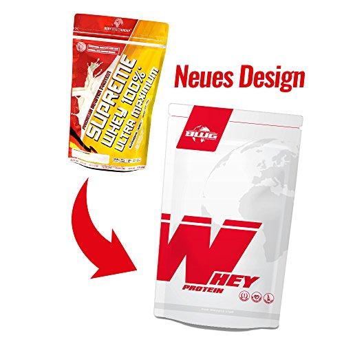 BWG Premium Master Protein Supreme Whey 100%, Strawberry Cream, 1er Pack (1x 500g)