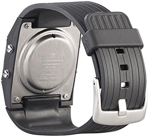 ST-Leonhard-NC7190-sprechende-Herren-Armbanduhr-mit-Weckfunktion-Schwarz