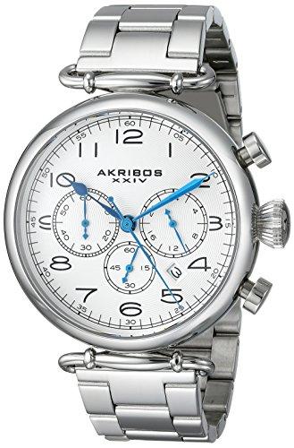 Akribos-XXIV-Herren-Armbanduhr-Grandiose-Analog-Quarz-AK764SS