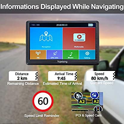 GPS-Navi-Navigation-fr-Auto-LKW-PKW-KFZ-Navigationsgert-7-Zoll-Navigationssystem-Lebenslang-Kostenloses-Kartenupdate-POI-Blitzerwarnung-Sprachfhrung-Fahrspurassistent-2018-52-Europa-UK-Karten