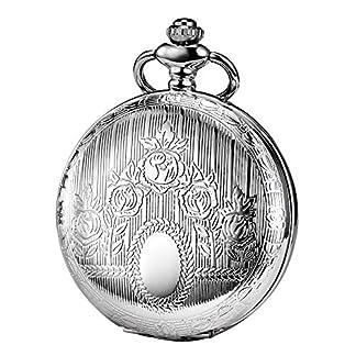 TREEWETO-taschenuhr-mit-kette-herren-silber-klassisches-design-rmische-ziffern-retro-uhr-taschenuhren-mechanisch-pocket-watch