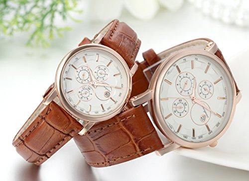 Sportuhr Damen Rosegold : ▻ günstig jewelrywe pcs herren damen freundschafts armbanduhr