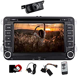 7-Zoll-Doppel-DIN-Autoradio-Bluetooth-mit-DVD-Player-Autoradio-Sat-Nav-mit-freier-8GB-Karte-f1r-VW-POLO-JETTA-PASSAT-CC-TIGUAN-Caddy-CANBUS-Unterst1tzung-SWC-Subwoofer-AUX-Cam-in-USB-SD-Win