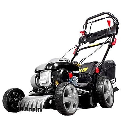 BRAST-Benzin-Rasenmher-30kW41PS-variabler-Radantrieb-46cm-Schnittbreite-Stahlgehuse-60L-Fangkorb-4-Takt-Motor-TV