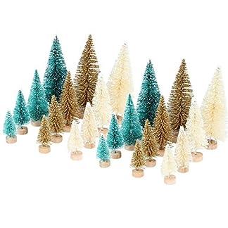 LAEMILIA-24-Stcke-Mini-Tannenbaum-Weihnachten-Dekoration-Prop-Spielzeug-Weihnachtsdeko-Knstlicher-Weihnachtsbaum-Klein-Tischdeko-Grn-Beige-Gold-Christbaum-Stnder
