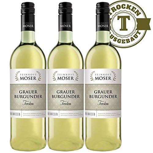Weiwein-Feinkost-Moser-Grauer-Burgunder-trocken-3x075l-VERSANDKOSTENFREI